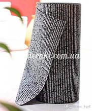 Коврик на метраж  ширина 65 см Черный с серебром для Ванной Туалета Кухни Коридора Дорожка Аквамат