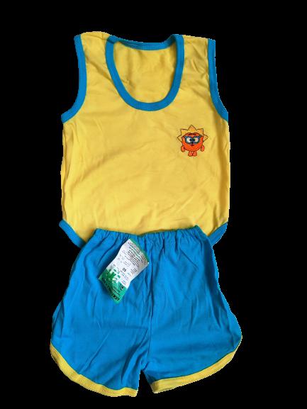 Костюми дитячі набори безрукавка шорти р.52,56,60. Від 6шт по 36грн