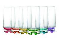 Набор стаканов ADORA с цветным дном 390 мл 6 шт Gurallar Art Craft