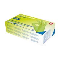 Рукавички нітрилові щільність 4 гр (колір Cedro-салатовий) Розмір: L + в ПОДАРУНОК Гель антисептик Avenir 200 мл