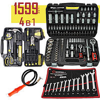 Набор инструментов 4в1 (Набор 108 ед.Profline + Набор слесарный 40 ед +Набор ключей 12 ед +Магнит