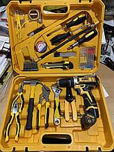 Ударный шуруповерт DeWALT DCD680 (12V 2AH) и набор инструментов
