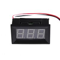 Вольтметр цифровой DC 0-30V с LED-индикатором 0.56 дюйма, синий (три провода), корпус черный