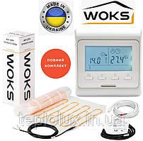 WoksMat 160 (1,00 м2) 160 Вт  с терморегулятором Е51, Тонкий  мат для теплого пола под плитку