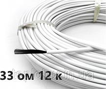 33 Ом/м. Нагревательный (карбоновый) кабель  для крыш | 33ом/метр, изоляция - силикон | Сопротивление 33 Ом/м