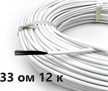 33 Ом/м. Нагревательный (карбоновый) кабель для желобов, изоляция - силикон | Отправка в день заказа