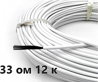 33 Ом/м.Нагревательный (карбоновый)кабель для желобов,изоляция - силикон   Отправка в день заказа  Nova Therm