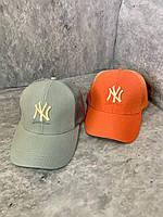 Жіноча кепка NY з сіткою сірий, 55-57 см