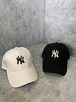 Жіноча кепка NY з сіткою білий, 55-57 см