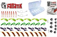 Набор силиконовых приманок для ловли хищных рыб и коробка на 6 отделений