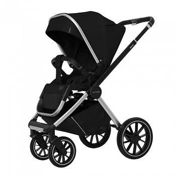 Универсальная коляска 3 в 1 Carello Optima CRL-6504 Leather Black Текстиль лен Сумка для мамы