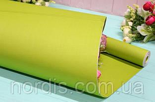 Двухсторонняя крафт бумага для цветов и подарков.70см*10м.Зеленая. Качество!!!