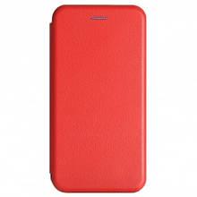 Чехол-книжка Premium Case под кожу Xiaomi Redmi 7 красный