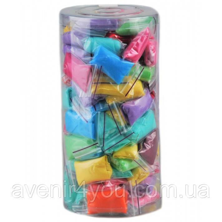 Трусики-стринги одноразовые. Микс цветов в пластиковом тубусе,100 шт