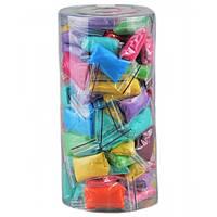 Трусики-стринги одноразовые. Микс цветов в пластиковом тубусе,100 шт, фото 1