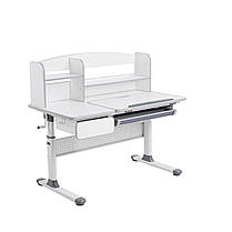 Комплект парта для школярів Cubby Rimu Grey + крісло Fundesk Mente Blue з підлокітниками, фото 3
