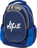 """Рюкзак """"Hipe Top Model"""" Хайп синій 2від.,2карм.,ортоп.,розмір M,40х29х23см №973622"""