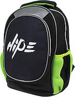 """Рюкзак """"Hipe Top Model"""" Хайп,2від.,2карм.,ортоп.,розмір S,38х28х20см,чорний №973544"""