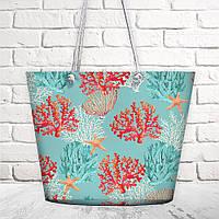 Пляжная сумка Malibu Коралы 50х36х15 см (MAL_20J049)