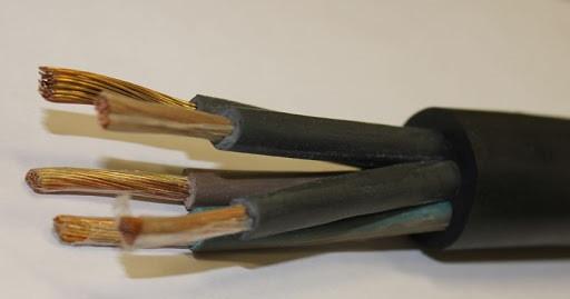 Кабель силовой гибкий КГ 5х1,5 резина КРОК