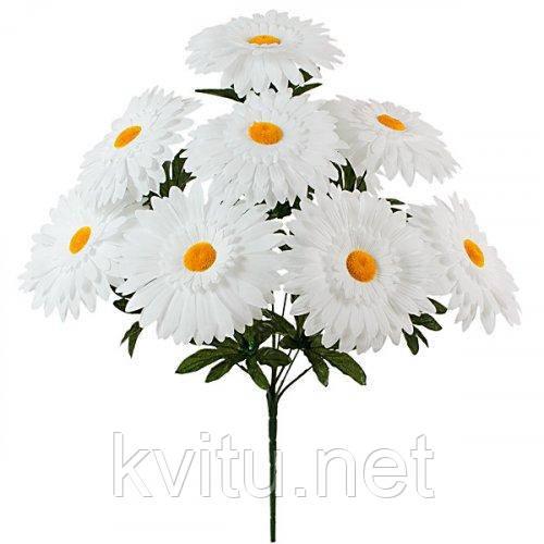 Искусственные цветы букет белых ромашек, 51см