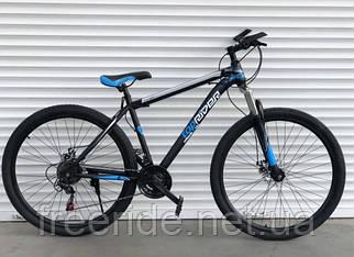 """Гірський велосипед Toprider """"611"""" 29 (19 рама) чорно-синій"""