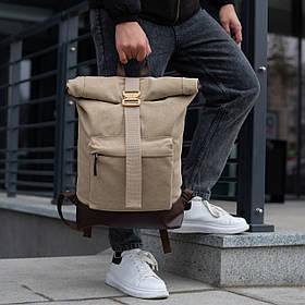 Роллтоп рюкзак чоловічий DEZERT з брезенту canvas WLKR