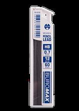 Стрижні для механічного олівця, HB, 0,7 мм, 12 шт