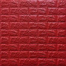 Декоративная 3D панель самоклейка под кирпич Красный 700x770x7мм