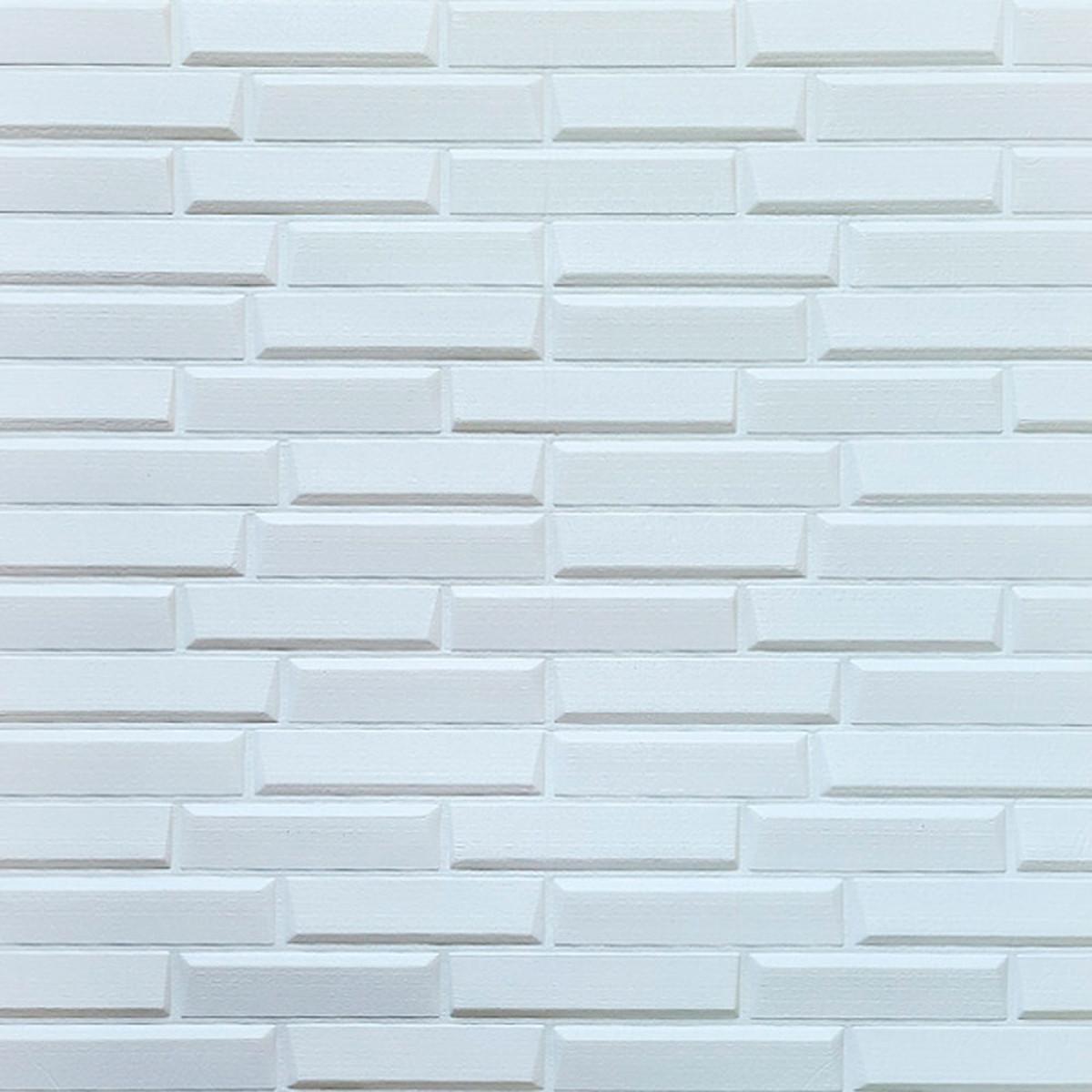 Самоклеюча декоративна 3D панель біла кладка 770х700х8 мм