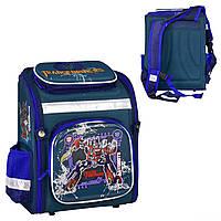 Рюкзак школьный каркасный N 00183 (30) 1 отделение, 4 кармана, спинка ортопедическая