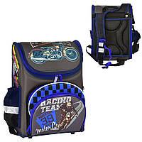 Рюкзак школьный каркасный N 00186 (30) 1 отделение, 4 кармана, спинка ортопедическая