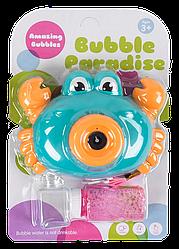 Мильні бульбашки 3939-83 A (96) 2 кольори, світло, звук, на батарейках, на аркуші [Блістер] - 6969770190394