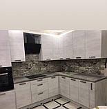 Самоклеящаяся декоративная 3D панель камень черно-белый мрамор 700х700х7мм, фото 2