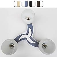 Люстра потолочная «Звезда» на три лампочки Бело-серый