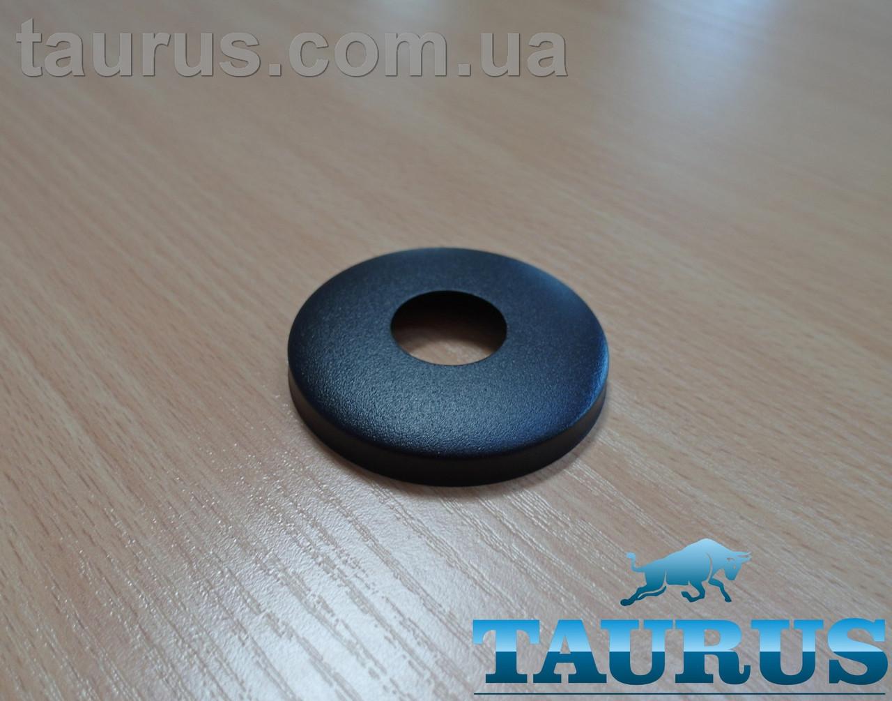 """Чёрный сферический декоративный фланец D60 / высота 10 мм Black, внутренний размер 1/2"""" (d20 мм) ThermoPulse"""
