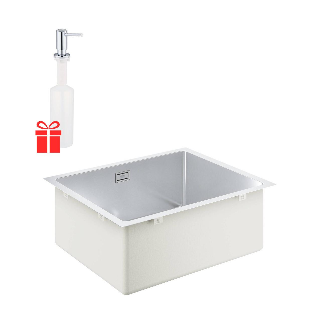 Набір Grohe мийка кухонна K700U 31574SD1 + дозатор для миючого засобу Contemporary 40536000