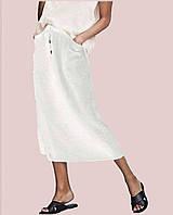 Летняя женская юбка из льна белый, 42-46