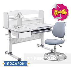 Комплект для школьников парта Cubby Rimu Grey + эргономичное кресло FunDesk Pratico Grey