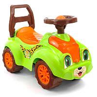 Толокар (Беби машина Кошечка) ТЕХНОК Light green/Orange (46181)