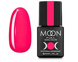 Гель-лак MOON FULL Neon №709 розовый насыщенный, 8 мл.