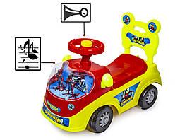 "Автомобиль-каталка толокар ""Spiderman"" 888-Yellow-Red"