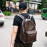 Рюкзак шкіряний чоловічий TRIGGER BRWN коричневий WLKR, фото 3