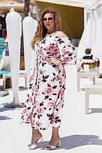 Красивое платье женское Турецкий софт Размер 50 52 54 56 58 60 В наличии 3 цвета