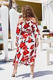 Красивое платье женское Турецкий софт Размер 50 52 54 56 58 60 В наличии 3 цвета, фото 5