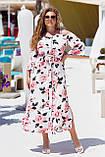 Красивое платье женское Турецкий софт Размер 50 52 54 56 58 60 В наличии 3 цвета, фото 2