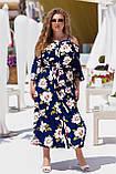 Красивое платье женское Турецкий софт Размер 50 52 54 56 58 60 В наличии 3 цвета, фото 3