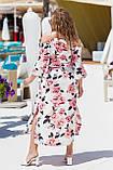 Красивое платье женское Турецкий софт Размер 50 52 54 56 58 60 В наличии 3 цвета, фото 7