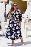 Красивое платье женское Турецкий софт Размер 50 52 54 56 58 60 В наличии 3 цвета, фото 8