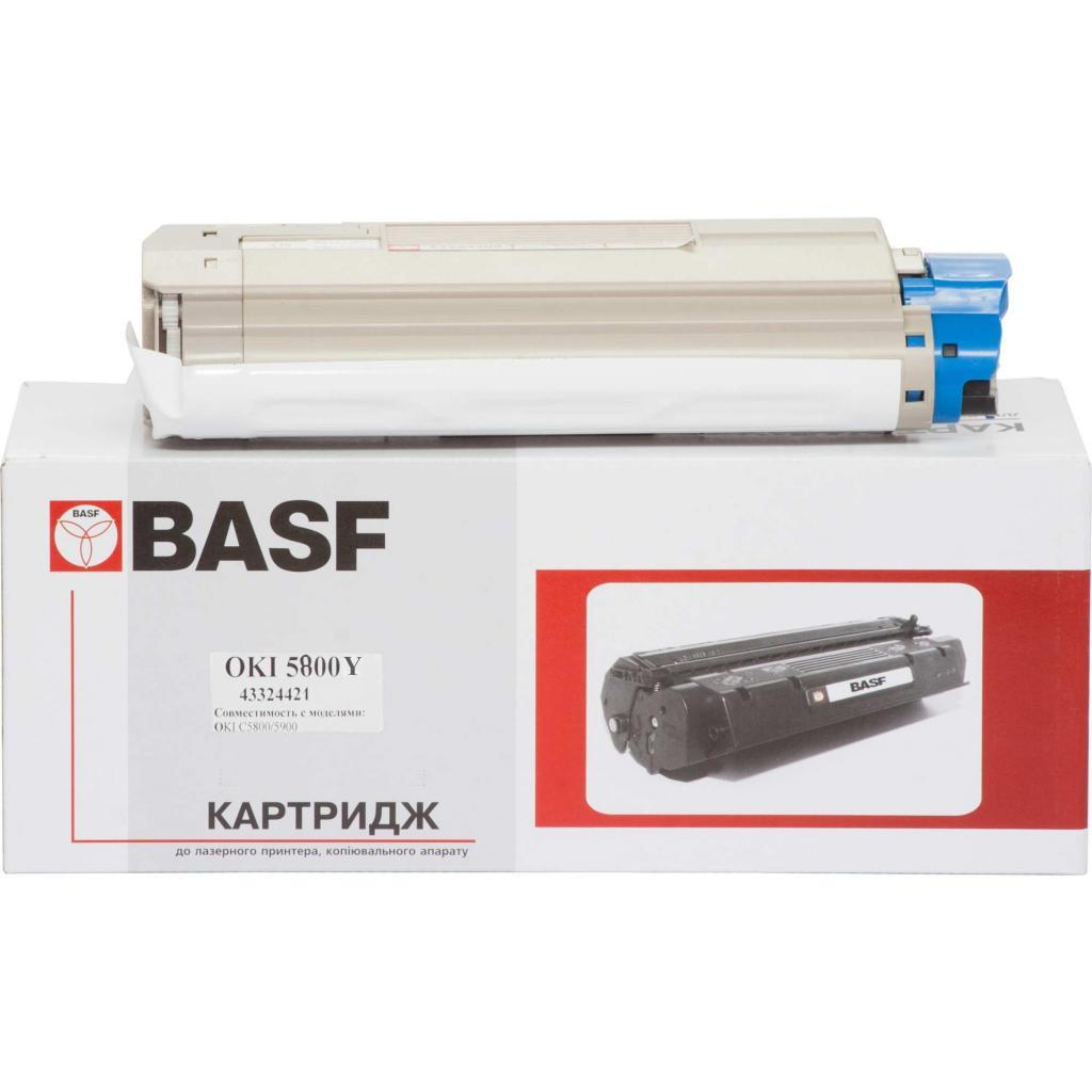 Тонер-картридж BASF OKI C5800/5900 Yellow 43324421 (KT-C5800Y-43324421)